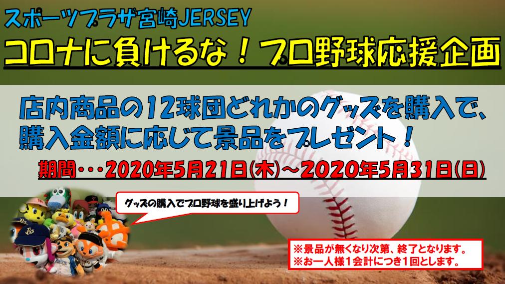 スポーツプラザ宮崎JERSEY『コロナに負けるな!プロ野球応援企画』-1