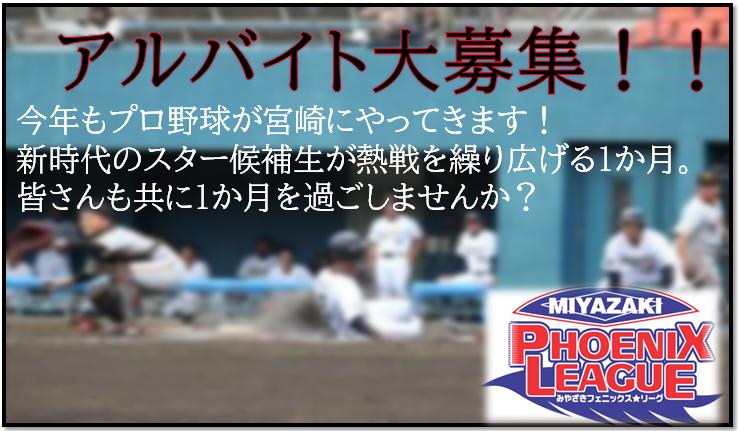 第17回みやざきフェニックス・リーグ アルバイト募集について-1
