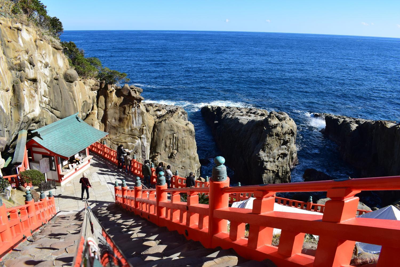 矗立于海岸的神社、鹈戸神宫-0
