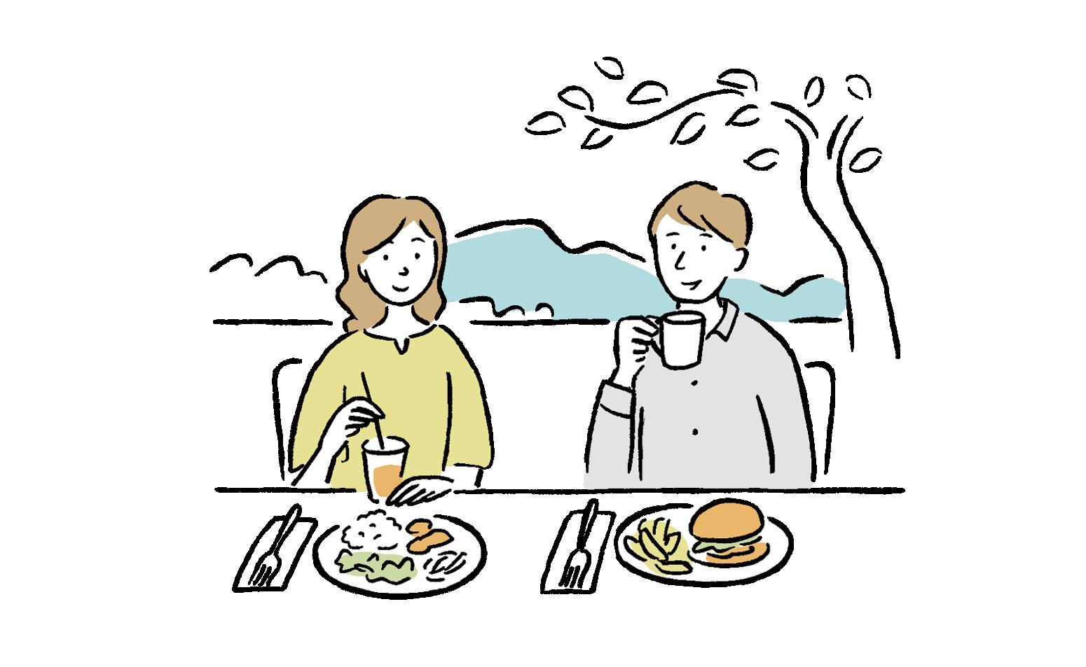 Eating together-0