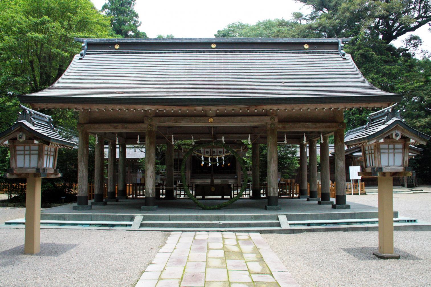 宮崎県高原町にある「狭野神社」は神武天皇ご生誕の地-1
