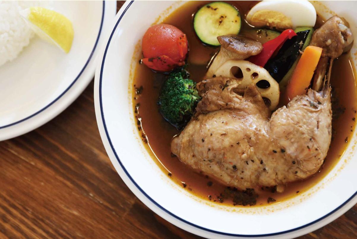 みやざき地頭鶏と地元野菜をふんだんに使ったスープカレー「スパイス チャンキー」-0