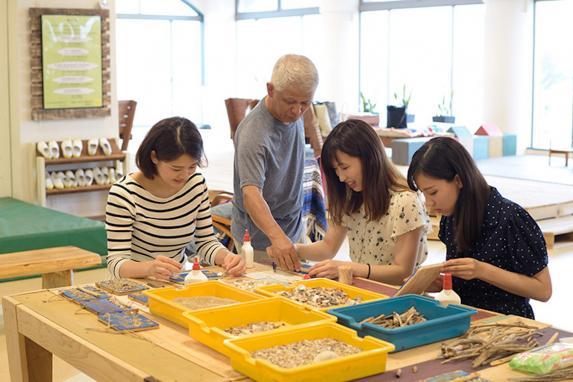 貝の表札作り体験-3